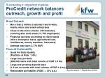succeeding in imperfect markets procredit network balances outreach growth and profit