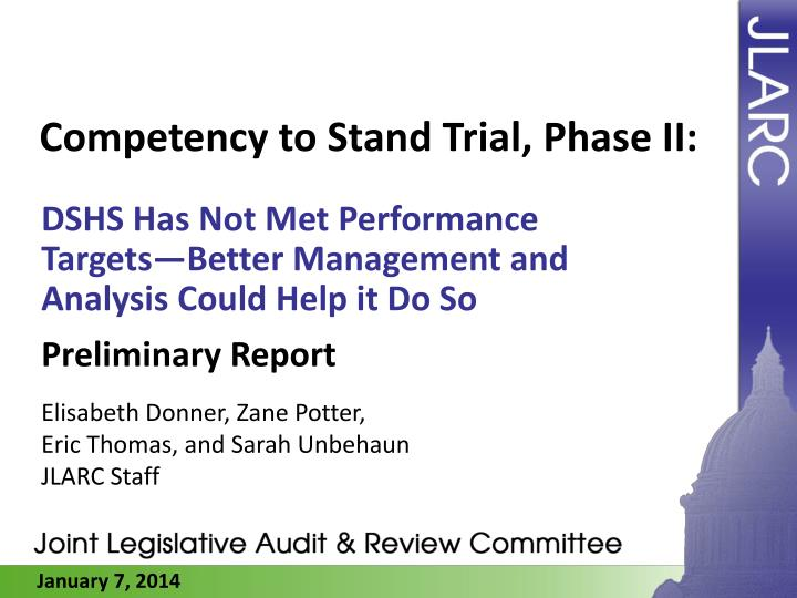 competency to stand trial phase ii n.