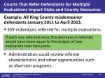 courts that refer defendants for multiple evaluations impact state and county resources