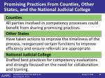 promising practices from counties other states and the national judicial college