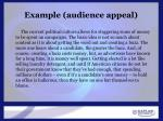 example audience appeal