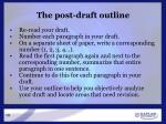 the post draft outline
