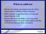 what to address