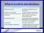 what to avoid in introductions1