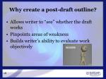 why create a post draft outline