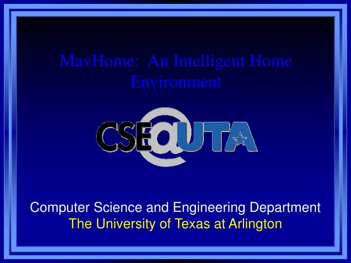 Computer science and engineering department the university of texas at arlington