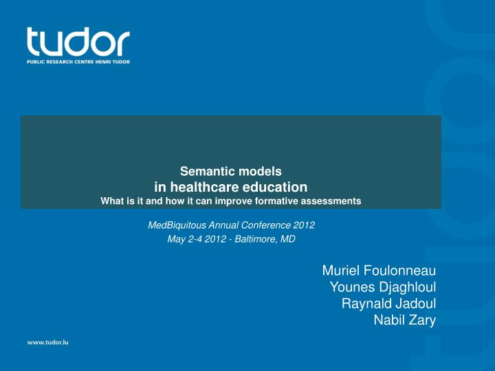 semantic models in healthcare education what is it and how it can improve formative assessments n.