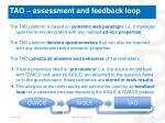 tao assessment and feedback loop