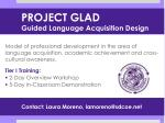project glad guided language acquisition design