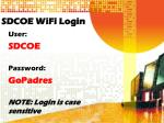 sdcoe wifi login