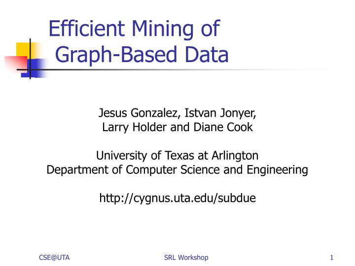 efficient mining of graph based data n.