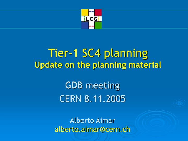 tier 1 sc4 planning update on the planning material n.