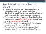 recall distribution of a random variable