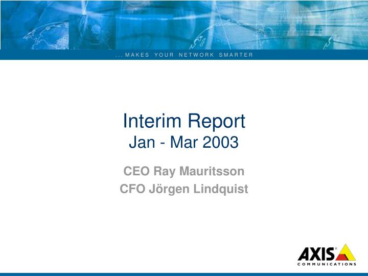 interim report jan mar 2003 n.