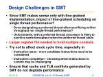 design challenges in smt