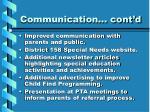 communication cont d