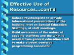 effective use of resources cont d1