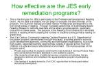 how effective are the jes early remediation programs