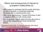 effects and consequences of internet on youngsters relationships 2