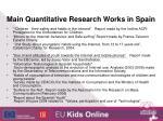 main quantitative research works in spain
