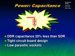 power capacitance
