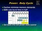 power duty cycle