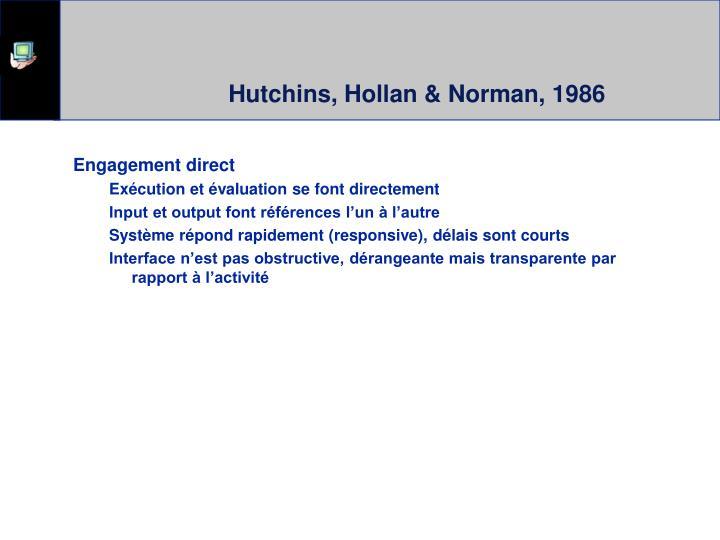 Hutchins, Hollan & Norman, 1986