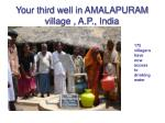 your third well in amalapuram village a p india