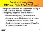 benefits of integrating mrc and state esar vhp cont1