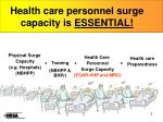 health care personnel surge capacity is essential