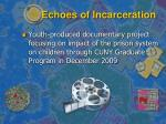 echoes of incarceration