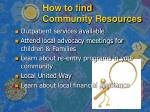 how to find community resources