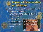 impact of incarceration on children