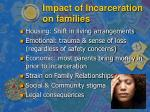 impact of incarceration on families