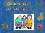 mentor tips
