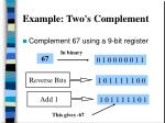 example two s complement