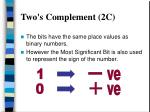two s complement 2c