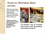 access to information about services