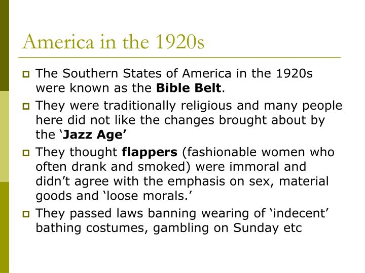 America in the 1920s