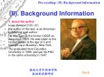 ii background information