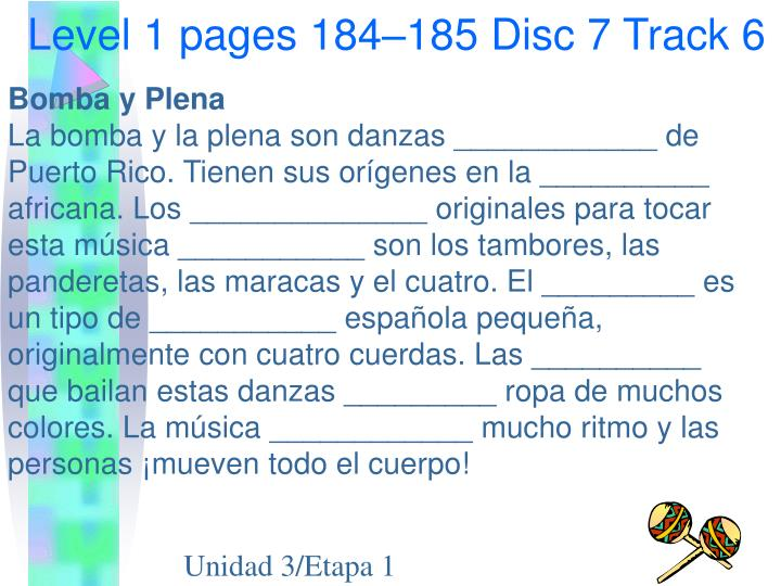 Level 1 pages 184–185 Disc 7 Track 6