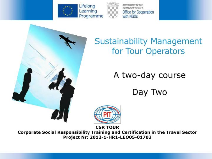 sustainability management for tour operators n.