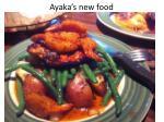 ayaka s new food
