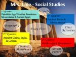 mrs cole social studies