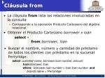 cl usula from