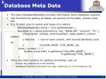 database meta data
