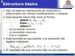estructura b sica