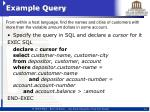 example query6