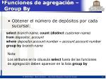 funciones de agregaci n group by