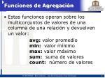 funciones de agregaci n